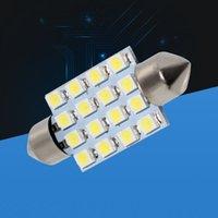 39 millimetri 16 LED 3528 1210 SMD del festone interno bianco SMD cupola luce della lampada C5W Lampadina 6423 6451 6461