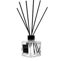 Ambientador de aire de perfume para aceites esenciales Difusor Fragancia Botella de vidrio No Fire Parfum con palitos de ratán negro Inicio Dec Oficina de sala de estar