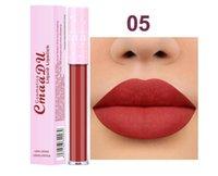 Nova composição Cmaadu 6 cor fosca tubo rosa batom batom copo antiaderente