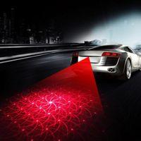 새로운 안티 충돌 리어 엔드 LED 자동차 오토바이 레이저 꼬리 안개등 테일 램프 자동차 - 모터 차량 제동 주차 신호가 램프 경고