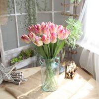 5 шт / много Latex Большой тюльпан Искусственные цветы Отделение для отеля Home Garden Decoration Wedding Показать Фиктивный венком тюльпан
