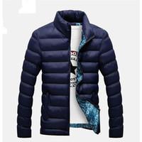 2020 Nova Jaquetões Parka Men Outono-Inverno Quente Outwear Marca Magro Mens Coats Casual Windbreaker acolchoado Jackets Men M-6XL