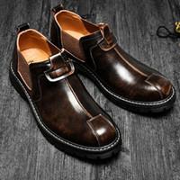 Stivali Classic Business Business Dress Dress Shoes Leather Slip on caviglia nuda nera marrone casual casual stivaletti da uomo elegante formale