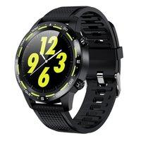 원래 스마트 시계 L12 방수 IP68 SmartWatch MTK2502 ECG 혈압 산소 블루투스 호출 Wristwatch iOS 안드로이드
