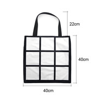 Sublimation Grid Tote Bag Blank White DIY heat transfer shop...
