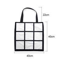 التسامي الشبكة حمل حقيبة بيضاء فارغة DIY نقل الحرارة حقيبة تسوق 9 لوحات القماش Frabic قابلة لإعادة الاستخدام التخزين هدية حقيبة يد