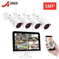 시스템 Anran 5MP CCTV 비디오 감시 키트 홈 보안 카메라 System12 인치 모니터 NVR 키트 야외 야간 비전 WiFi