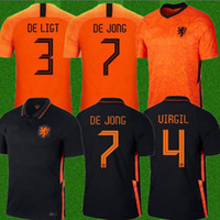 2020 2021 Pays-Bas Soccer Jerseys de Jong Wijnaldum Holland Kits de football Chemise Virgil 20 21 Jersey Strotman Memphis Memhis Men + Enfants Sets