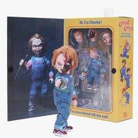 15-25cm Neca Leksaker Barnspel Skräck Ultimata Bra Killar Chucky Brud av Chucky Pvc Action Figur Samlarobjekt Modell Doll Toy Y200919