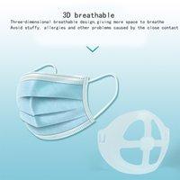 القناع القابل للتصرف حامل الوسادة الداخلية أقنعة 3D مكافحة حشو لتنفس أحمر الشفاه لا عصا يمكن إعادة استخدام PE