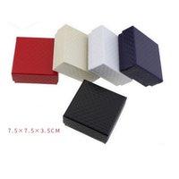 Schmuckbeutel, Taschen 7. 5 * 7.5 * 3,5 cm Square Packungsbox Halskette Ohrring Ringe Geschenk ohne Logo Großhandel