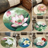 3D Flower Circular Rug Living Room Living Room Rug Bedroom A...