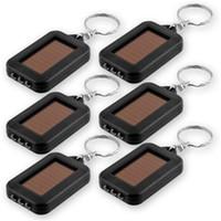 solare LED ricaricabile luce mini Keychain portatile illuminazione della torcia elettrica pulsante batteria di vendita calda solare portatile Lampswithout
