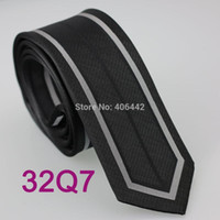 Neck Ties YIBEI Coachella Jacquard Woven Microfiber Border Black Mens Gray Vertical Striped Cravate Skinny Narrow Slim Necktie