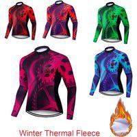 TELEYI 2020 Kış Bisiklet Giyim Dağ Bisiklet Giyim Maillot Ropa Ciclismo Invierno Termal Polar MTB Bisiklet Bisiklet Jersey