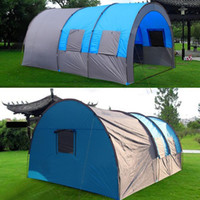 Oxford tunnel tent 8- 10 Person outdoor automatic tents Doubl...