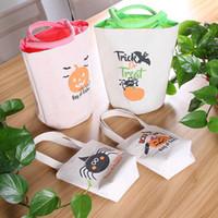 New Halloween Tote Bags Trick or Treat Bags presente para as crianças Partido Doces Sacos com o punho para 4pcs Halloween reutilizável comerciais / Set DHL HH9-3335