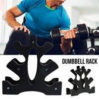 3 katmanlı Dumbbell Tutucu Ev Gym Dumbbell PVC Plastik Dikey Depolama Organizatör Raf