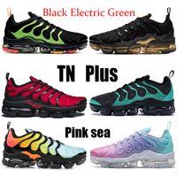 جديد TN بالإضافة إلى الأسود الكهربائية الأخضر الوردي البحر المرأة الاحذية الثلاثي أسود أبيض نوبل الأحمر الأزرق الرجال أحذية رياضية ابيض أكوا نحلة المدرب