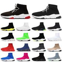 2020 속도 트레이너 남자 여성 양말 신발 패션 스니커즈 트리플 블랙 화이트 블루 Clearsole 노란색 floo 조깅 걷는 캐주얼 스포츠 신발