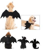 هالوين الحيوانات الأليفة بات الكلب الملابس أجنحة صغيرة كلب كبير القط الخفافيش زي الملابس الكلاب القطط الخفافيش تغيير الملابس