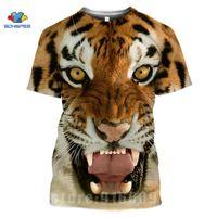 Animal Tiger Face Shirts 3D Print Horror Lion T shirt Streetwear Kid Men Women Fashion T-shirt Harajuku Shirts Homme King Tshirt
