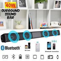 Sıcak Kablosuz Bluetooth Soundbar'da Hi-Fi Stereo Hoparlör Ev Sinema Televizyon Güçlü Bas Ses Bar subwoofer ile / Uzaktan Kumanda olmadan