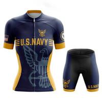 2021 Nuevo equipo EE. UU. EE. UU. Ciclismo de la marina de ciclismo 19D Shorts Shorts Set Ropa Ciclismo Womens MTB Summer Pro Bicycling Maillot Ropa inferior