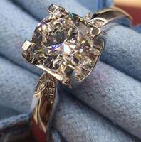 1ct الاسترليني الفضة الزفاف الذكرى moissanite الماس حلقة الخطوبة حزب الجسم مجوهرات PT950 المرأة هدية تمرير الماس اختبار القلم