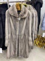 Rose ERS abrigo de piel de visón Real Women Coat invierno natural pieles de visón y chaquetas femeninas caliente larga ropa de las mujeres de la vendimia 2020 F6A T200908