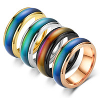 Stainless steel Ring, Thermal ring blank Change color with t...