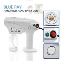 Hand drahtlose blaues Licht Nano Dampf Pistolenzerstäubung Desinfektion Nebelmaschine Haarspray Maschine Haushaltsreinigung Werkzeuge CCA12514 12st