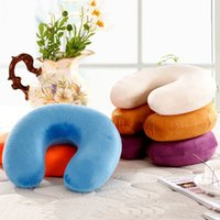 U-Shaped Neck Pillow Memory Foam Travel Neck Support Head Pillows Sleeps Pillow THJ99