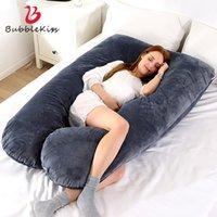 Bubble Поцелуй Беременность Подушка Главной Body Pillow Side Спящая поддержка беременных женщины беременная поясничные Бросьте Подушки