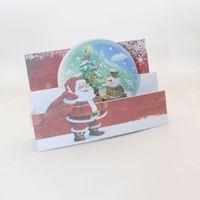 Tebrik Kartları 2 Stiller Katlanır Tipi El Yapımı Noel Baba Ağacı Kağıt Davetiyesi Kartpostal Merry Christmas Çocuk Yılı Hediye