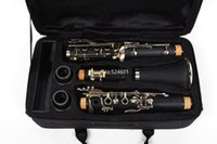 Ny ankomst Clarinet BB Tune Ebony Wood / Bakelite Nickel Plated 17 Key Musical Instrument med Fodral Gratis frakt