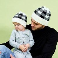 Семья Matching Детские шапки Детские шапки для девочек Рождество Отец Мать Дочь Теплый Вязаный Hat Новорожденного Hat Beanie Caps Xmas шапки