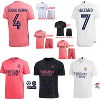 20 21 kits Real Madrid Soccer Jersey 2020 2021 SERGIO RAMOS RISQUE JOVIC VINICIUS BENZEMA MODRIC football uniformes enfants chemises