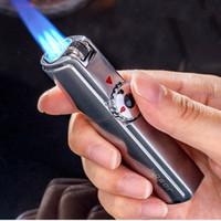 Jobon ONE Üçlü Torch Çakmak Metal Rüzgar Geçirmez Gaz Butan Jet TV Flint Çakmak 3 Memeler Turbo BARBEKÜ Puro Sprey Gadget'ları Erkekler için Gaz Yok