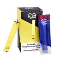 Самое лучшее качество Puff Bar 1,3 мл Одноразовая Pod 280mAh Батарея Puff Vape Pen 18 цветов Vape комплект Упаковка с кодом безопасности