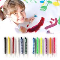6 Renk Yüz Kalem Çubuk İçin Çocuk Parti Makyaj Araçları Boyama Crayon Vücut Boya Crayon Kalemleri Ekleme Yapısı yüz boyama