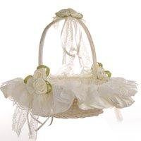 2020 كريم بوي فتاة سلة الزهور على اليدوية حفل زفاف حفل زفاف الحسنات اللوازم سلال الشريط فتاة الرباط