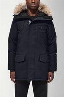 Mens Casacos de inverno jaquetas Veste Homme Outdoor Inverno Jassen Big Fur com capuz Fourrure Manteau Down Jacket Brasão Hiver Parka Doudoune