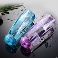 Творческий Алмазные чашки Красочные Хрусталь бутылки с водой Мода сок Чашки 450мл бутылка перемещения подарков Реклама чашки воды