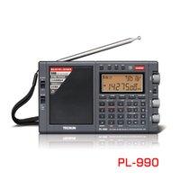 Radio Tecsun PL-990 Portable Stéréo haute performance Tuning numérique Tuning numérique FM AM SW SSB avec récepteur Bluetooth
