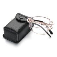 Óculos de sol Hooh Metal Dobrável Óculos de Leitura Unisex Lentes multifocais progressivas Presbyopia óculos incluem caso + 1,00 ~ + 4.00