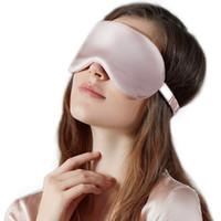 100% Pure soie Double-Side Shading Eyeshade sommeil Masque pour les yeux Couverture Eyepatch Bandeaux Eyeshade Santé sommeil Bouclier Light5645