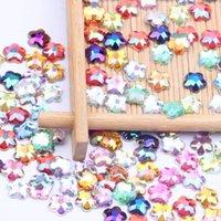 네일 아트 장식 8mm 5000pcs 아크릴 모조 다이아몬드 평면 뒤로 Quincunx 지구면 많은 색상 접착제 구슬 DIY 쥬얼리 만드는 DIY 쥬얼리