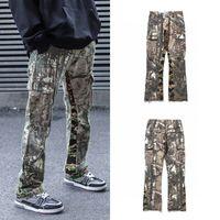 2021 Jeans Gallery Dept High Street Pants Men Women Couples Wide Camouflage Patchwork Fit Hip-hop Loose Leg New Udevr