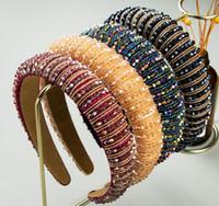 Новые женские полноценные хрустальные горный хрусталь губка украшены мягкий повязку девушка ручной работы из бисера
